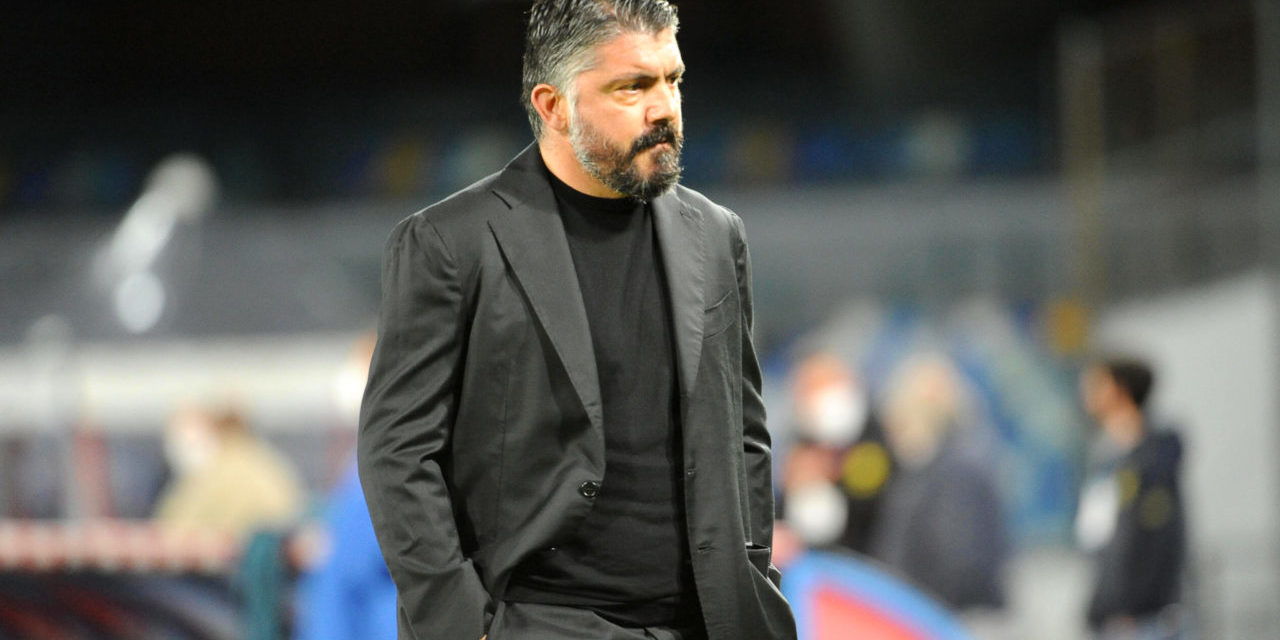 Former Napoli coach Gennaro Gattuso looks disappointed