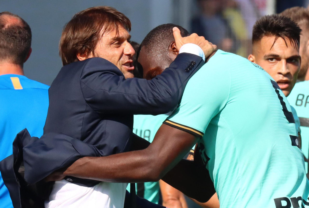 Antonio Conte and Romelu Lukaku
