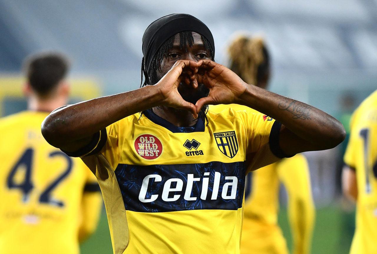 Gervinho celebrates a Parma goal
