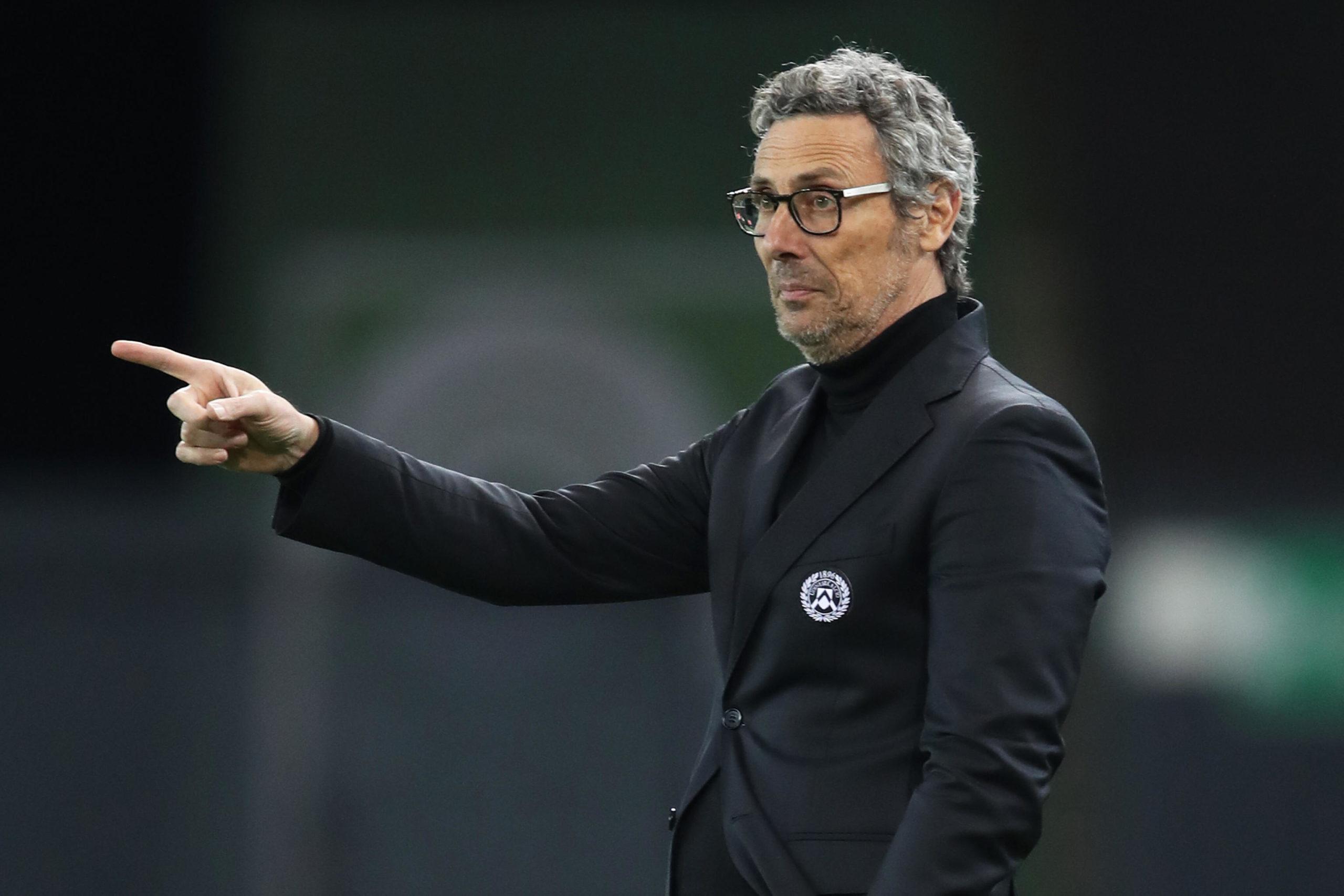 Udinese coach Luca Gotti
