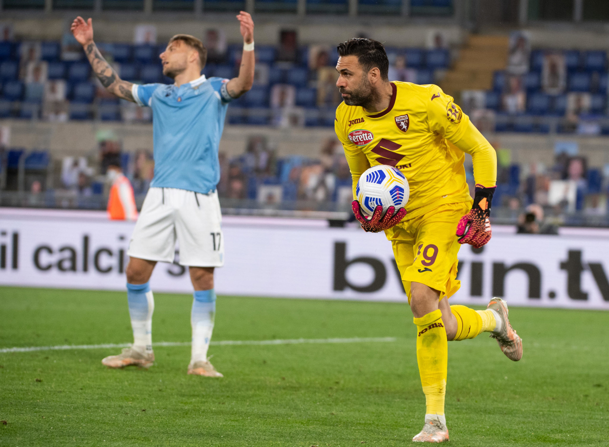 Ciro Immobile appeals for a penalty in Lazio's 0-0 draw with Torino