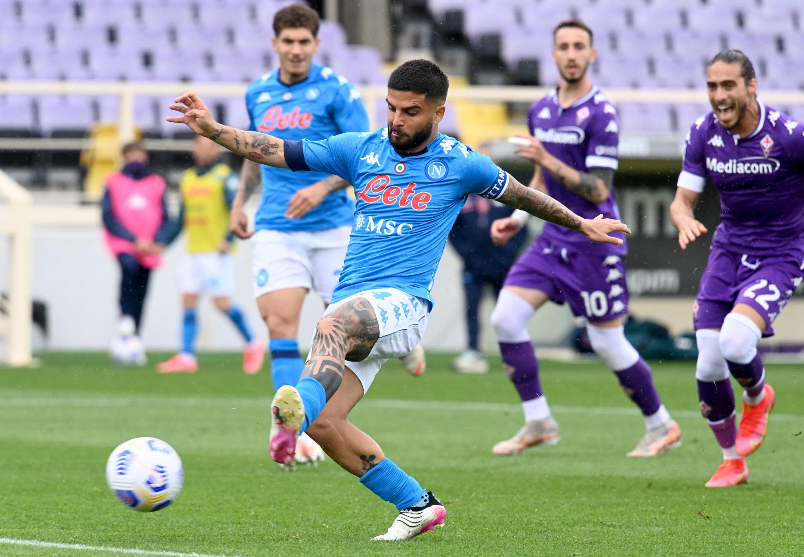 Lorenzo Insigne scores for Napoli against Fiorentina