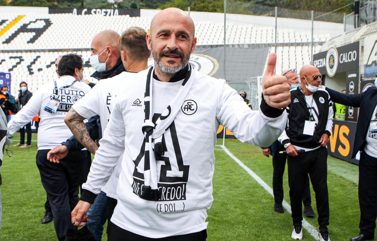 Spezia coach Vincenzo Italiano