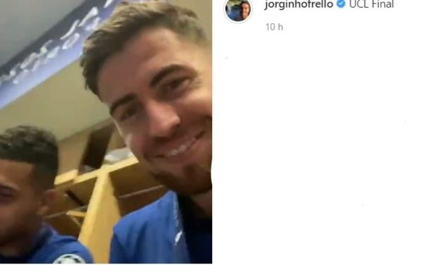 Jorginho shows Chelsea dressing room celebrations after Champions League win