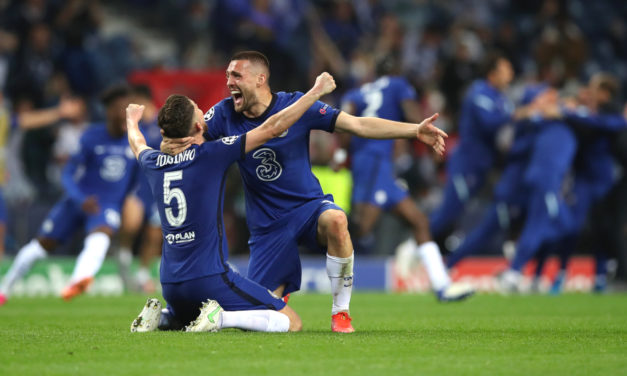Video: Jorginho receives special treat after Chelsea's Champions League win