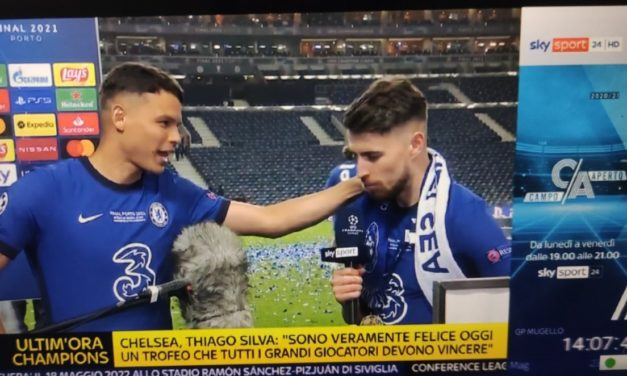 Jorginho goes wild after Chelsea's Champions League victory