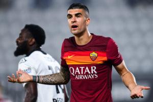 Roma defender Gianluca Mancini against Spezia