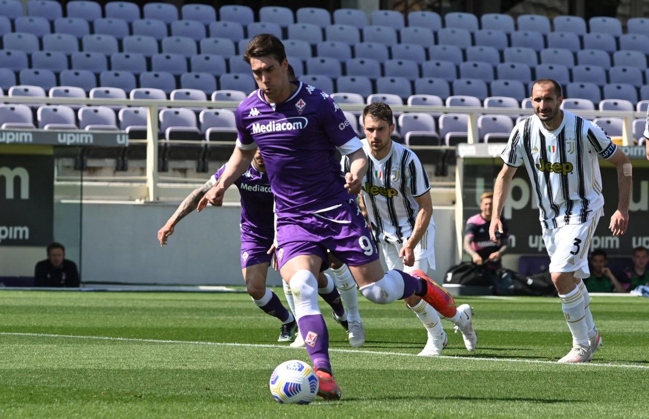 Dusan Vlahovic scores against Juventus