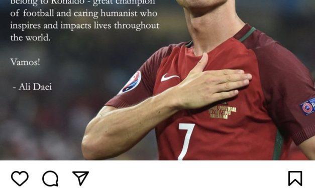 Ali Daei congratulates Ronaldo over record