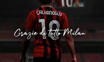 Calhanoglu posts 'thank you' video to Milan