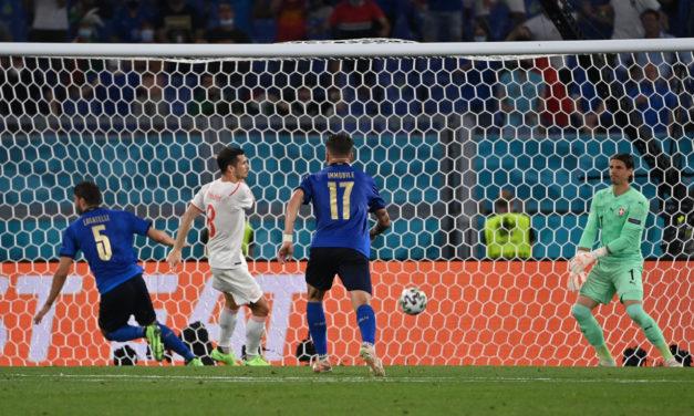 Half-Time: Italy impress with Switzerland