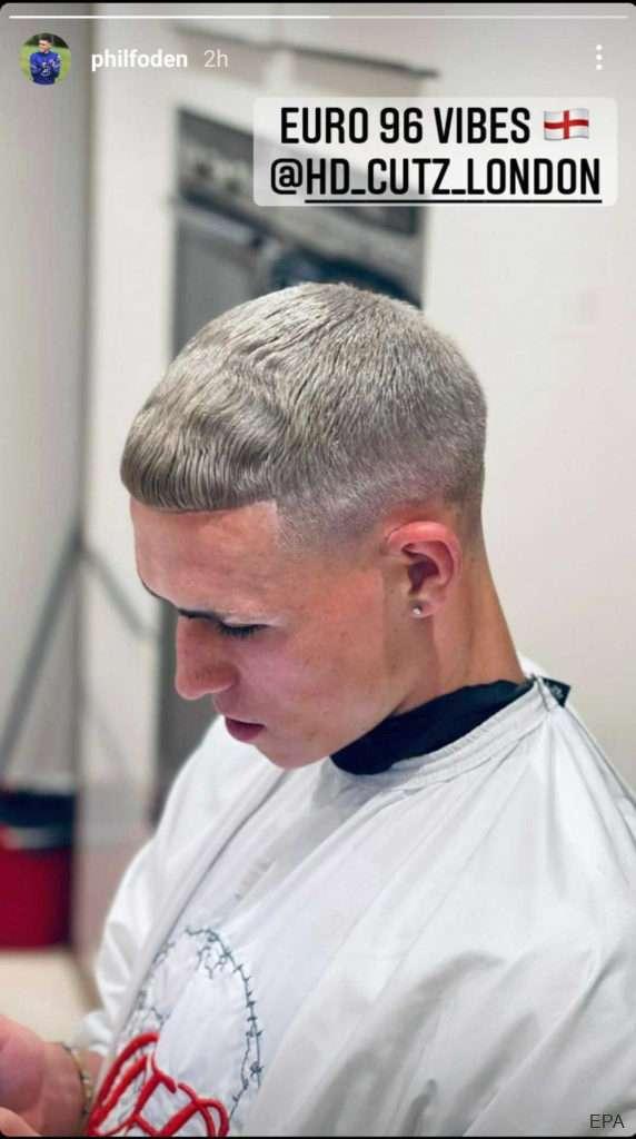 Foden haircut