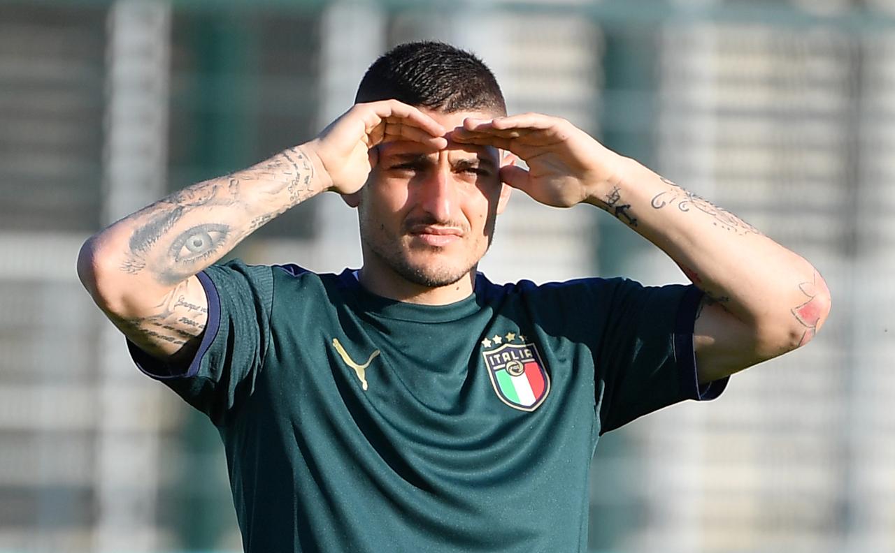 Marco Verratti training for Italy