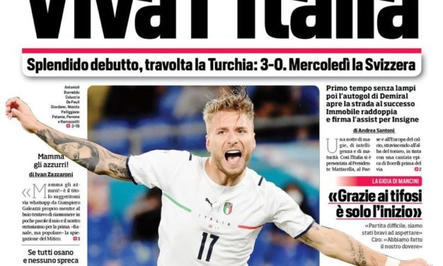 Today's Papers – Ideal Italy Euro 2020 debut flattens Turkey