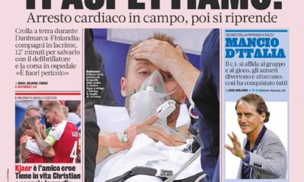 Today's Papers – Eriksen out of danger after collapse