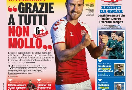 Today's Papers – No one like Italy, Eriksen 'won't give up'
