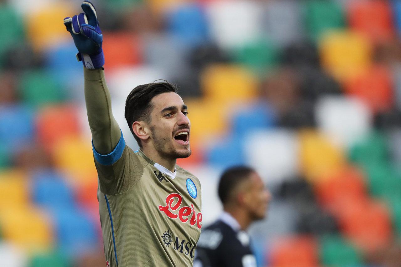 Napoli goalkeeper Meret against Udinese