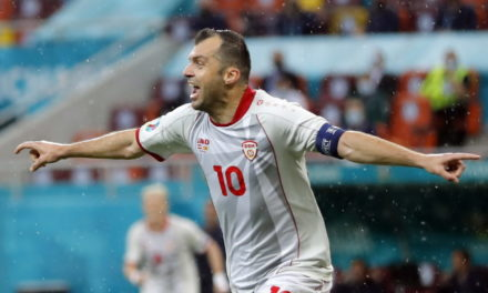 Historic Pandev scored North Macedonia's first ever goal in a major tournament