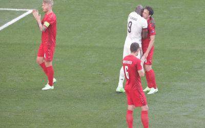 Video: Lukaku looks emotional as Denmark and Belgium pay tribute to Christian Eriksen