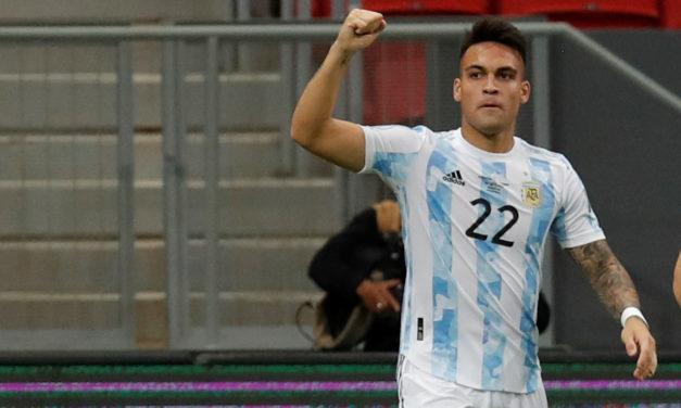 Video: Lautaro scores winner in Argentina-Perù