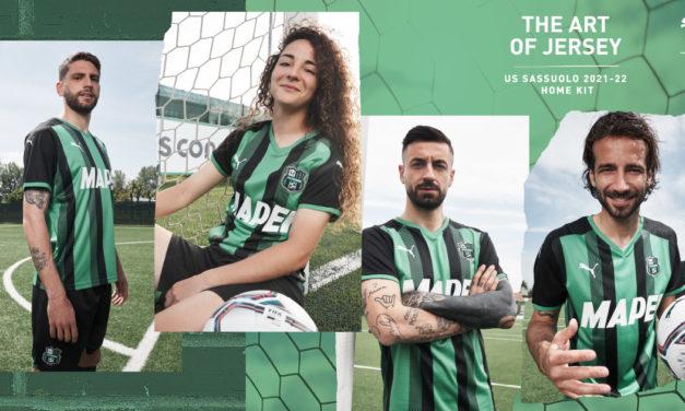 Sassuolo unveil 2021-22 home kit