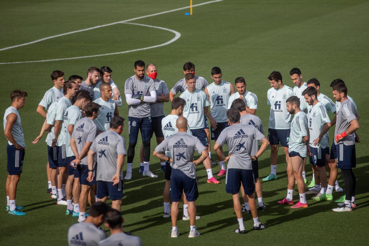 Spain training Euro 2020
