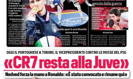 Today's Papers – Ronaldo staying at Juve, Milan message for Gazidis
