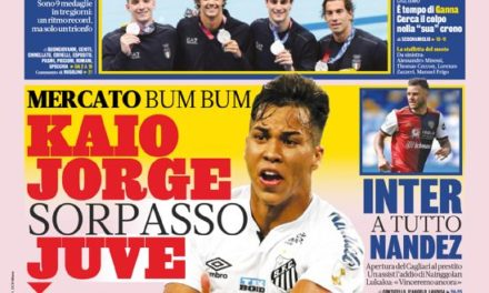 Today's Papers – Juve leapfrog for Kaio Jorge, CR7 returns