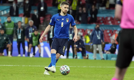Jorginho ve arruinado el récord perfecto de penales de Italia