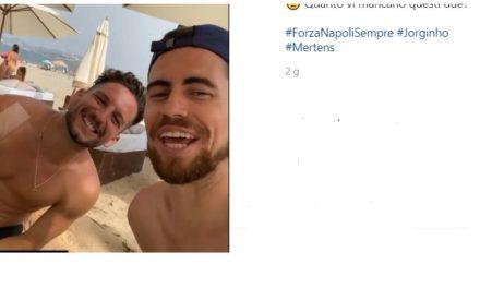 Video: Jorginho and Mertens reunite