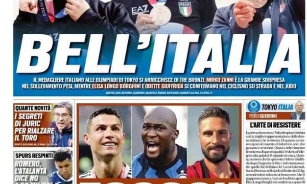 Today's Papers – Kessié wants Milan stay, Ronaldo, Lukaku and Giroud return