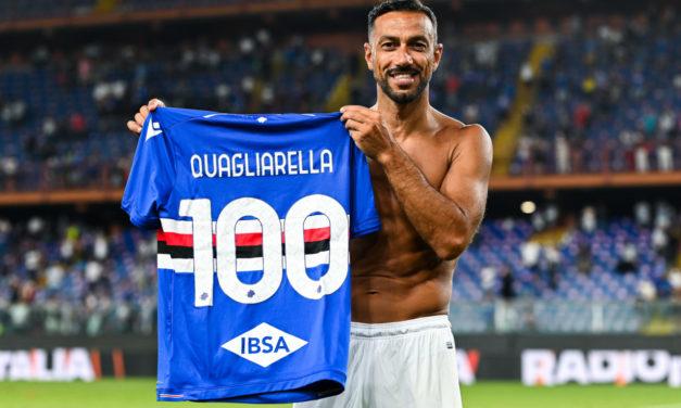 Quagliarella 'proud to have reached 100 goals' with Sampdoria