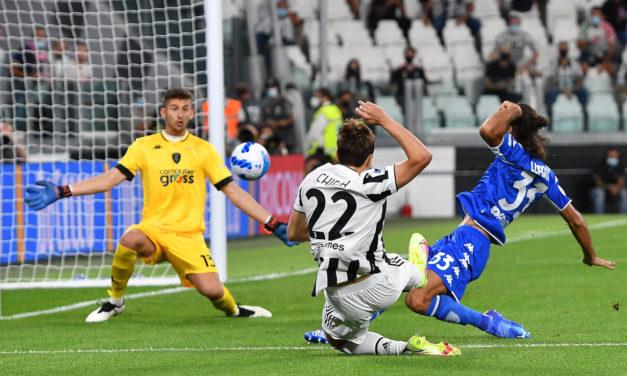 Juventus: Chiesa entrenando aparte de la plantilla