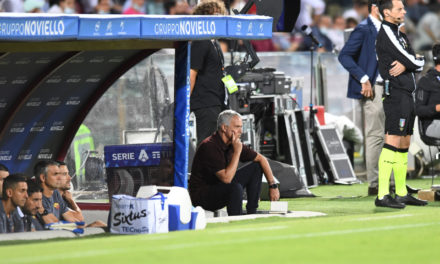 Watch: Mourinho's reaction after loss in the Rome Derby