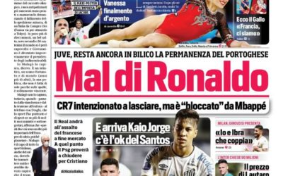 Today's Papers – Kaio Jorge incoming, Chelsea continue Lukaku pursuit