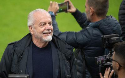 El presidente del Napoli, De Laurentiis, felicitó al equipo tras el estancamiento