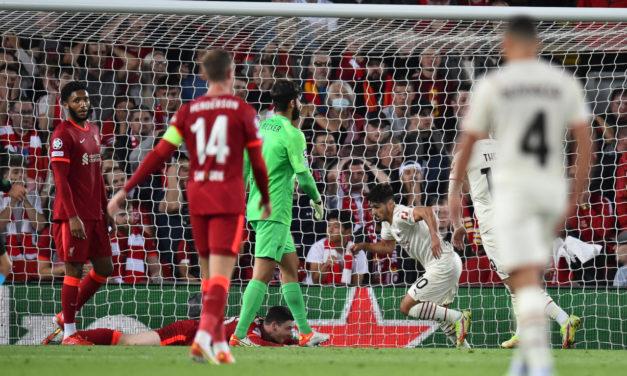 Vídeo: el gol de Brahim Díaz visto por los aficionados del Milan en Anfield