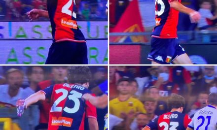 Video: Destro scores Genoa stunner while holding water bottle
