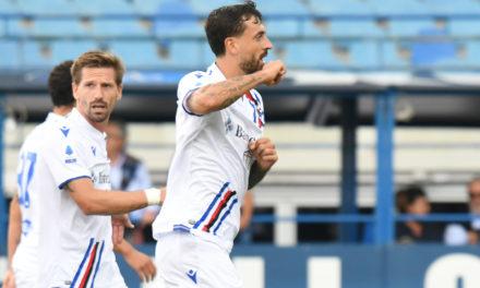 Caputo se disculpa con la afición del Empoli tras los goles de la Sampdoria