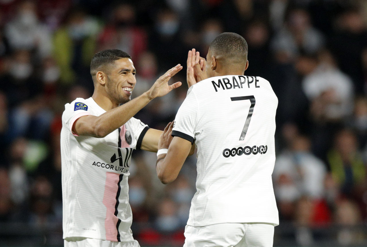 Hakimi and Mbappe
