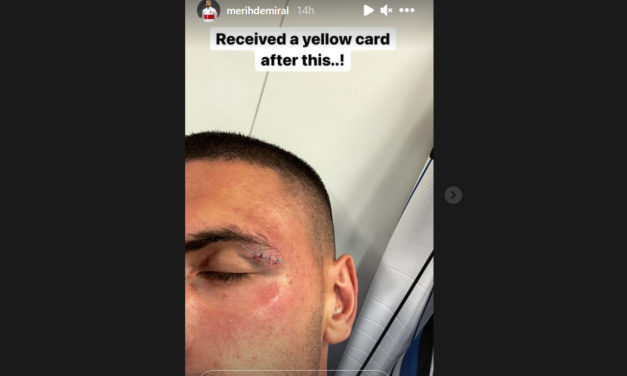 Demiral: 'Received a yellow card after this!'