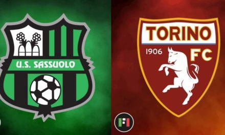 Serie A live: Sassuolo vs. Torino