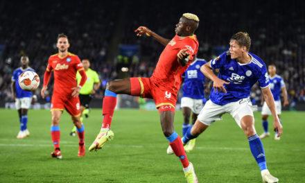 Europa League | Leicester City 2-2 Napoli: Osimhen comeback king