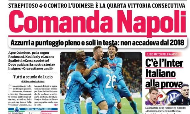 Today's Papers – Napoli rules, Allegri furious