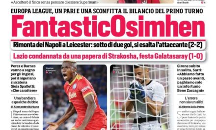 Today's Papers – Napoli and Roma shine in Europe