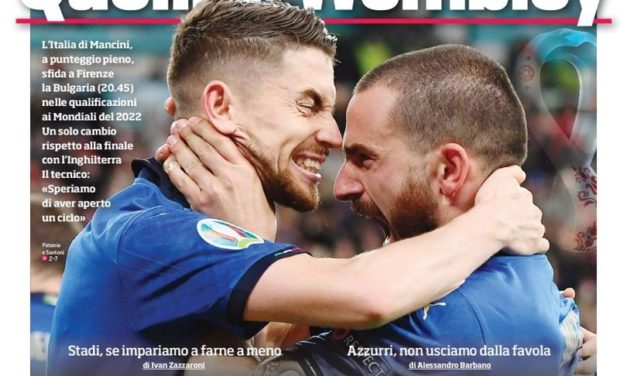 Today's Papers – Wembley heroes are back against Bulgaria