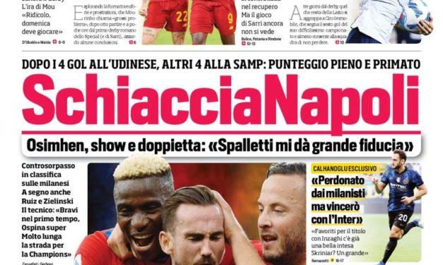 Documentos de hoy - Napoli aplasta a todos, controversia Pellegrini