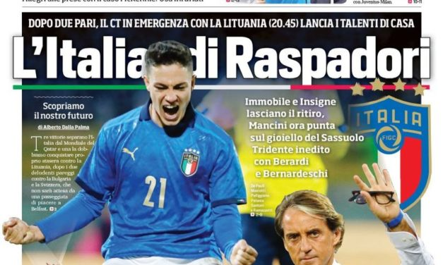Today's Papers – Raspadori to revive Italy, Osimhen available