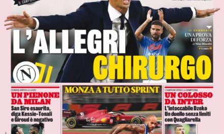Today's Papers – Napoli host decimated Juventus