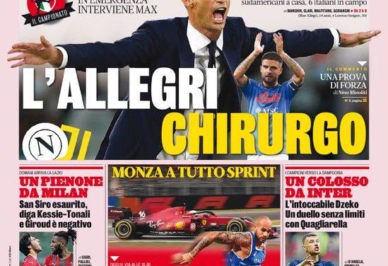 Documentos de hoy - El anfitrión del Nápoles diezmó a la Juventus